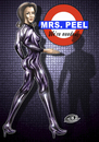 Cartoon: Mrs Peel (small) by elle62 tagged mrs,peel,the,avengers,mit,schirm,charme,und,melone