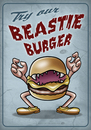 Cartoon: Vorsicht Fleisch (small) by elle62 tagged burger,monster,diner
