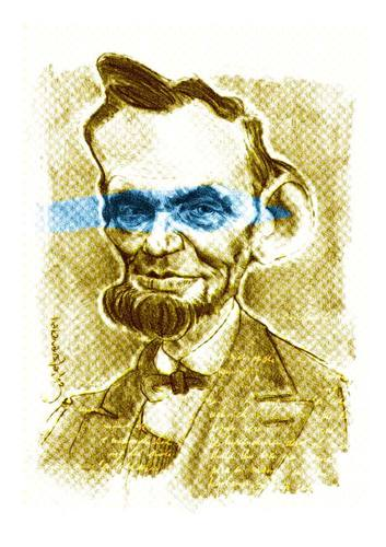 Cartoon: Abraham LINCOLN (medium) by hakanarslan tagged abraham,lincoln