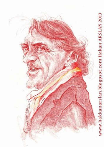 Cartoon: Mancini (medium) by hakanarslan tagged galatasaray,mancini,pablomancini,football,technicaldirector,sport