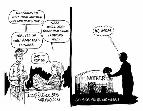 Cartoon: Mothers Day (medium) by terry tagged mothers,holiday