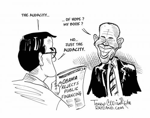 Cartoon: The audacity (medium) by terry tagged obama
