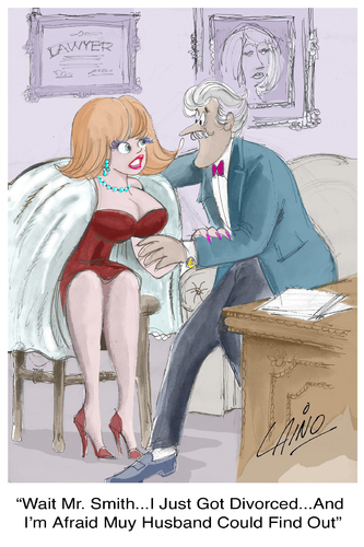 Cartoon: The Divorced (medium) by LAINO tagged divorced,marriage,love