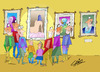 Cartoon: Museum (small) by LAINO tagged museum