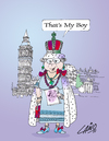 Cartoon: The Wedding (small) by LAINO tagged royal,wedding,kate,william,westminster,abbey,buckingham,palace
