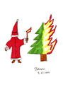 Cartoon: The North will rise again (small) by Blogrovic tagged christmas,weihnachten,ku,klux,klan