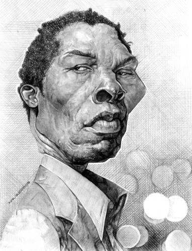 Cartoon: isaach de bankole (medium) by salnavarro tagged caricature,pencil,cinema,star