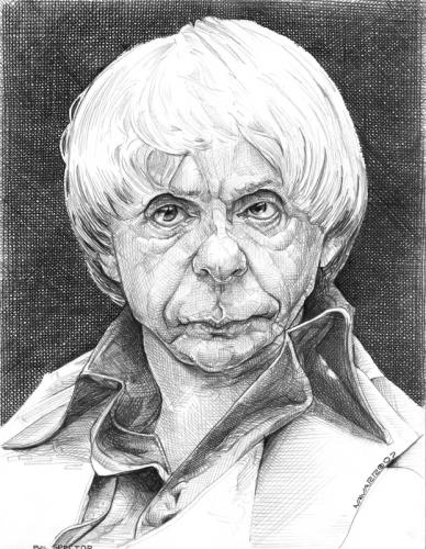 Cartoon: phil spector (medium) by salnavarro tagged caricature,pencil