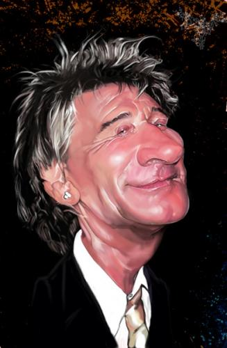 Cartoon: rod stewart (medium) by salnavarro tagged caricature,digital