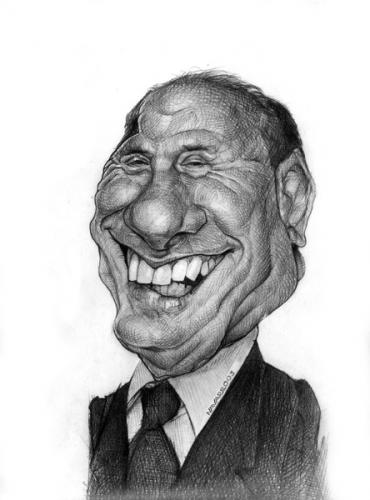 Cartoon: silvio berlusconi (medium) by salnavarro tagged caricature,pencil,politics