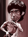 Cartoon: bruce lee (small) by salnavarro tagged ipad,caricature,sketchbook,mobile,bruce,lee,kung,fu