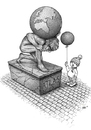 Cartoon: Atlas (small) by Stan Groenland tagged cartoon,environmental,human,nature,mythology,children,politics,welfare,sculptures