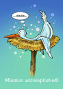 Cartoon: Mission accomplished! (small) by Stan Groenland tagged cartoon,birth,birds,baby,children,greeting,cards