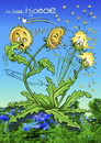 Cartoon: Tsjoeoe.. (small) by Stan Groenland tagged cartoon,funny,flowers,wish,greeting,cards,health,summer,spring