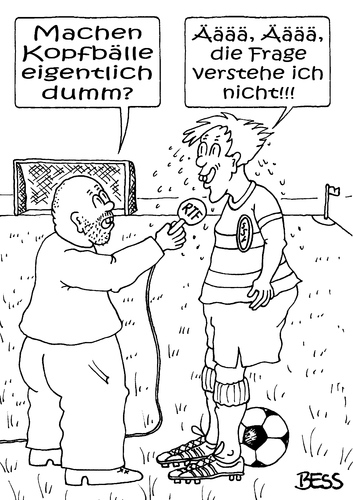 Cartoon: Ääää (medium) by besscartoon tagged fussball,kopfball,sport,dumm,rtf,ssv,reutlingen,bess,besscartoon