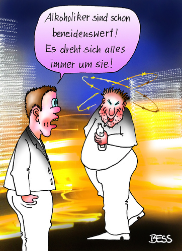 Cartoon: beneidenswert (medium) by besscartoon tagged männer,mann,alkohol,neid,rausch,trinken,betrunken,drogen,alkoholiker,bess,besscartoon