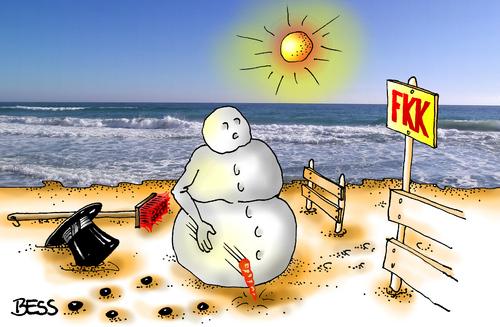 Cartoon: FKK (medium) by besscartoon tagged besscartoon,bess,fkk,meer