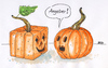 Cartoon: Angeber (small) by besscartoon tagged halloween kürbis angeber horror bess besscartoon