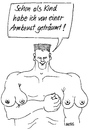 Cartoon: Armbrust (small) by besscartoon tagged mann,bodybuilder,traum,armbrust,brust,wünsche,stärke,bess,besscartoon