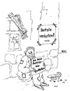 Cartoon: Betteln verboten! (small) by besscartoon tagged bettler,apotheke,geld,penner,bess,besscartoon