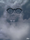 Cartoon: cloud face 14 (small) by besscartoon tagged wolken,himmel,brille,gesicht,portrait,bess,besscartoon