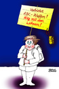 Cartoon: Friedensaktivist (small) by besscartoon tagged schule,pädagogik,schüler,lehrer,waffen,abc,abcwaffen,bess,besscartoon,friede