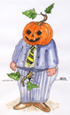 Cartoon: Halloween (small) by besscartoon tagged halloween mann kürbis horror bess besscartoon