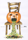 Cartoon: Halloween (small) by besscartoon tagged stuhl kürbis halloween kotzen horror bess besscartoon