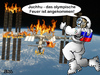 Cartoon: Juchhu... (small) by besscartoon tagged olympia,feuer,iss,russland,bess,besscartoon