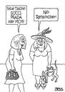 Cartoon: modebewußt (small) by besscartoon tagged frauen,frau,tasche,handtasche,mode,design,gucci,prada,mcm,hund,rehpincher,bess,besscartoon
