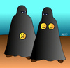 Cartoon: Modebewusstsein (small) by besscartoon tagged burka,frauen,islam,smyli,mode,verschleiert,bess,besscartoon