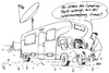 Cartoon: So gehts auch (small) by besscartoon tagged camping,wohnmobil,tv,fernsehen,satellitenschüssel,paar,bess,besscartoon