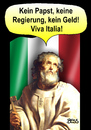 Cartoon: Viva Italia (small) by besscartoon tagged italien,papst,krise,mafia,berlusconi,monti,beppe,grillo,regierung,geld,euro,eurokrise,bess,besscartoon