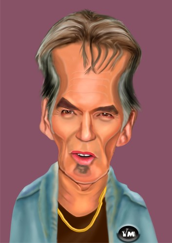 Cartoon: Billy Bob Thorton (medium) by Vlado Mach tagged actor,musician,movie