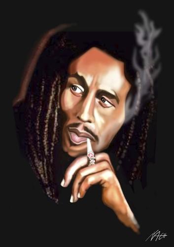 Bob Marley By Vlado Mach Famous People Cartoon Toonpool