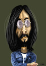 Cartoon: John Lennon (small) by Vlado Mach tagged lennon beatles music