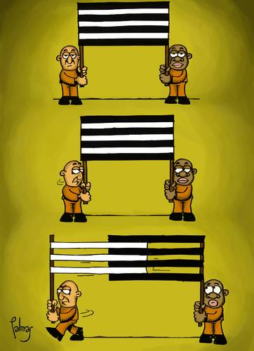 Cartoon: Bandera (medium) by Palmas tagged racismo