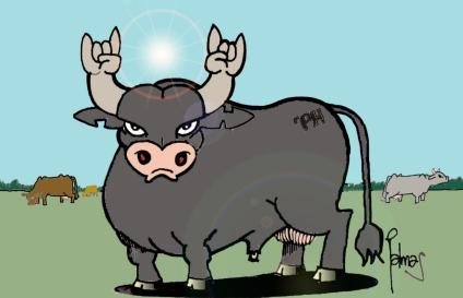 Cartoon: El toro (medium) by Palmas tagged humor,gauchesco