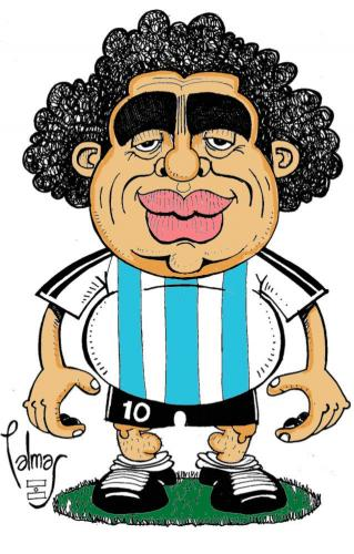 Cartoon: Maradona (medium) by Palmas tagged deporte