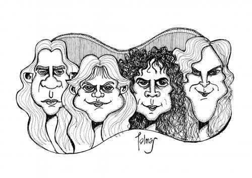 Metallica By Palmas | Famous People Cartoon | TOONPOOL