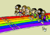 Cartoon: Carrera de igualdad (small) by Palmas tagged igualdad