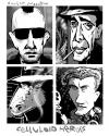 Cartoon: Celluloid Heroes (small) by Dunlap-Shohl tagged caricature,bogart,deniro,godzilla,gielgude