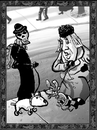 Cartoon: Dance of Death 5 (small) by Dunlap-Shohl tagged dance,death,dogs,dogwalking