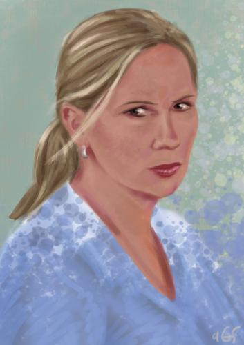 Cartoon: portret (medium) by aGi tagged speed,painting