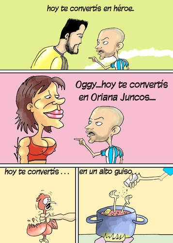Cartoon: javier Mascherano argentina (medium) by lucholuna tagged mrlucholuna,argentina,final,cup