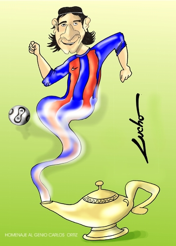 Cartoon: messi (medium) by lucholuna tagged messi,barcelona