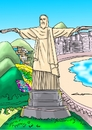 Cartoon: BRAZIL FAVELA NARCOS (small) by lucholuna tagged brazil,narcos