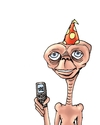 Cartoon: ET (small) by lucholuna tagged et,famous,people