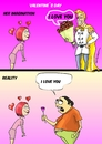 Cartoon: valentines day (small) by lucholuna tagged valentines,day,dia,de,los,enamorados