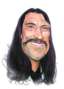 Cartoon: Danny Trejo (small) by Eno tagged danny,trejo,caricature